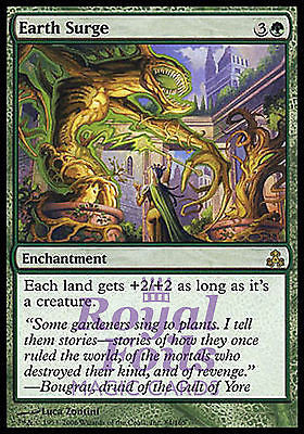 **1x FOIL Earth Surge** GPT MTG Guildpact Rare MINT green