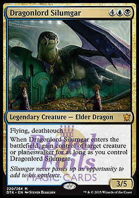 **1x FOIL Dragonlord Silumgar** DTK MTG Dragons of Tarkir Mythic MINT blue black