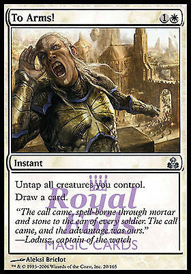 **1x FOIL To Arms!** GPT MTG Guildpact Uncommon MINT white