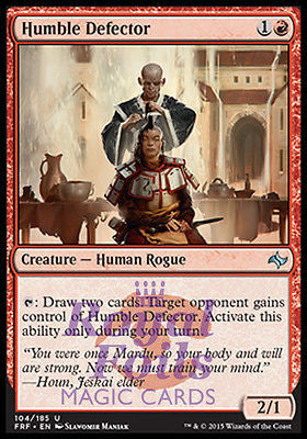 **2x FOIL Humble Defector** FRF MTG Fate Reforged Uncommon MINT red