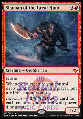 **1x FOIL Shaman of the Great Hunt* FRF MTG Fate Reforged Mythic MINT red