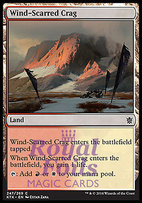 **4x FOIL Wind-Scarred Crag** MTG KTK Khans of Tarkir Common MINT red white land