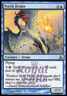 **4x FOIL Torch Drake** GPT MTG Guildpact Common MINT blue red