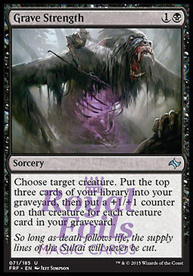 **4x FOIL Grave Strength** FRF MTG Fate Reforged Uncommon MINT black