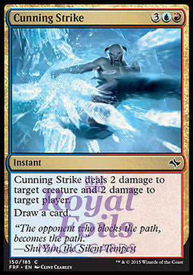 **4x FOIL Cunning Strike** FRF MTG Fate Reforged Common MINT blue red