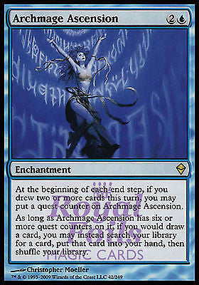 **1x FOIL Archmage Ascension** ZEN MTG Zendikar Rare MINT blue