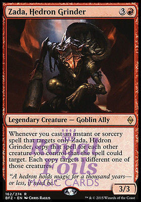 **1x FOIL Zada Hedron Grinder** BFZ MTG Battle for Zendikar Rare MINT red