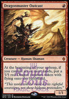 **1x FOIL Dragonmaster Outcast* BFZ MTG Battle for Zendikar Mythic MINT red