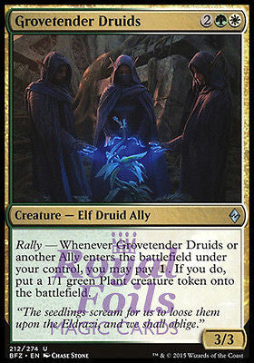 **4x FOIL Grovetender Druids BFZ MTG Battle for Zendikar Uncommon MINT green