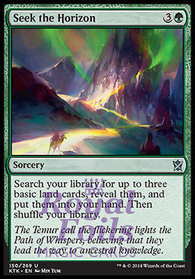 **2x FOIL Seek the Horizon MTG KTK Khans of Tarkir Uncommon MINT green