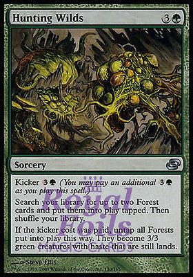 **1x FOIL Hunting Wilds** PLC MTG Planar Chaos Uncommon MINT green