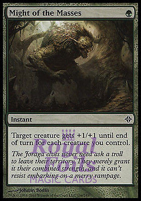 **3x FOIL Might of the Masses* ROE MTG Rise of Eldrazi Common MINT green