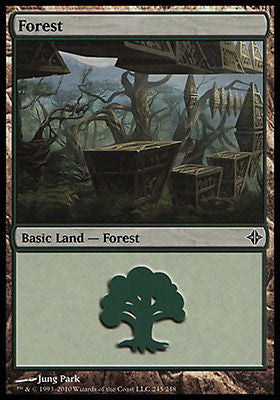 **2x FOIL Forest #245** ROE MTG Rise of Eldrazi Basic Land NM green