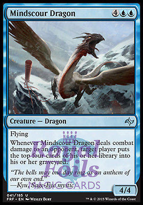 **2x FOIL Mindscour Dragon** FRF MTG Fate Reforged Uncommon MINT blue