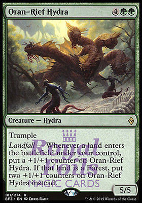 **2x FOIL Oran-Rief Hydra** BFZ MTG Battle for Zendikar Rare MINT green