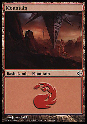**2x FOIL Mountain #241** ROE MTG Rise of Eldrazi Basic Land MINT red