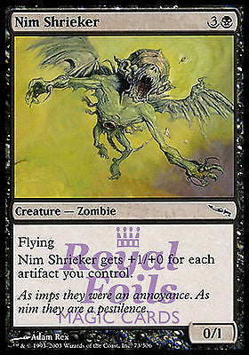 **4x FOIL Nim Shrieker** MDN MTG Mirrodin Common MINT black