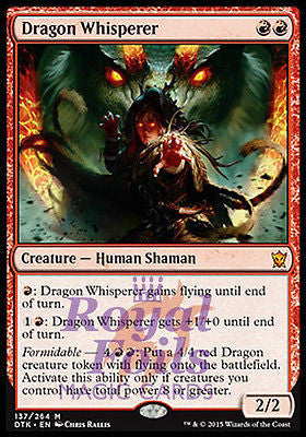 **1x FOIL Dragon Whisperer** DTK MTG Dragons of Tarkir Mythic MINT white