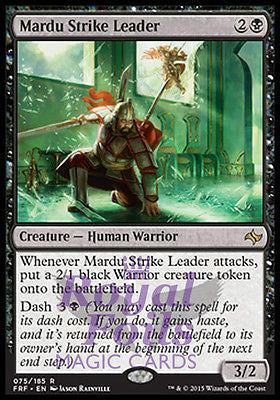 **1x FOIL Mardu Strike Leader** FRF Fate Reforged Rare MINT black