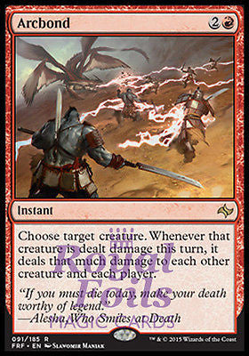 **1x FOIL Arcbond** FRF MTG Fate Reforged Rare MINT red