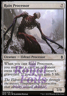 **4x FOIL Ruin Processor** BFZ MTG Battle for Zendikar Common NM colorless