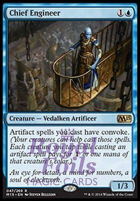 **1x FOIL Chief Engineer** MTG M15 Core Set Rare MINT blue