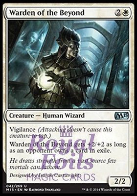 **4x FOIL Warden of the Beyond** MTG M15 Core Set Uncom MINT white human wizard