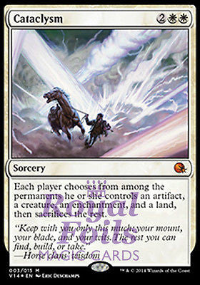 **1x FOIL Cataclysm** MTG FTV From the Vault Annihilation MINT white