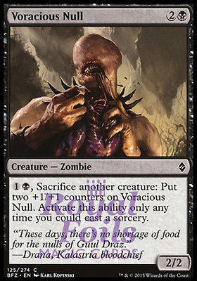 **4x FOIL Voracious Null** BFZ MTG Battle for Zendikar Common MINT black
