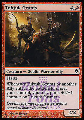 **4x FOIL Tuktuk Grunts** ZEN MTG Zendikar Common MINT red