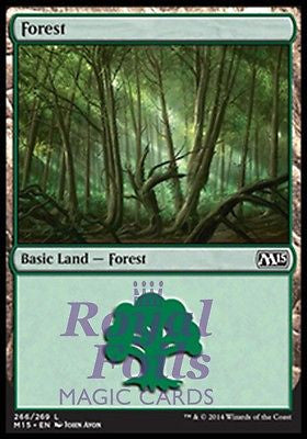 **1x FOIL Forest #266** MTG M15 Core Set Basic Land MINT green JA