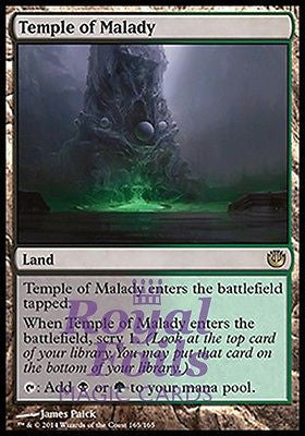 **1x FOIL Temple of Malady** JOU MTG Journey Into Nyx Rare MINT black green land