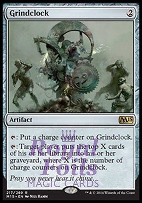 **1x FOIL Grindclock** MTG M15 Core Set Rare MINT artifact