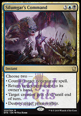**1x FOIL Silumgar's Command DTK MTG Dragons of Tarkir Rare MINT blue black