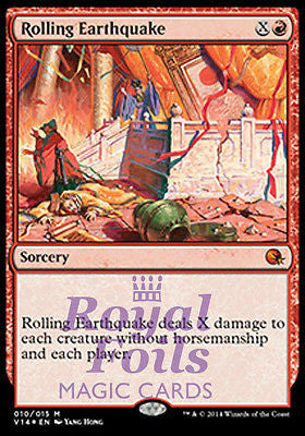 **1x FOIL Rolling Earthquake* MTG FTV From the Vault Annihilation MINT red