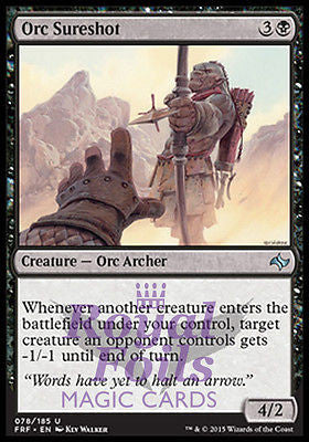 **2x FOIL Orc Sureshot** FRF MTG Fate Reforged Uncommon MINT black