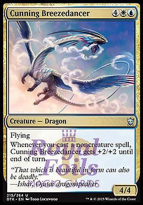 **2x FOIL Cunning Breezedancer* DTK MTG Dragons of Tarkir Uncommon MINT white blue