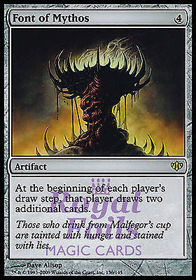 **1x FOIL Font of Mythos** CON MTG Conflux Rare VF artifact