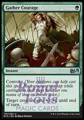 **4x FOIL Gather Courage** MTG M15 Core Set Uncommon MINT green instant