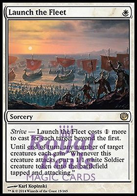 **1x FOIL Launch the Fleet** JOU MTG Journey Into Nyx Rare MINT white