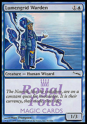 **4x FOIL Lumengrid Warden** MDN MTG Mirrodin Common MINT blue