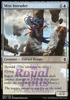 **4x FOIL Mist Intruder** BFZ MTG Battle for Zendikar Common MINT blue
