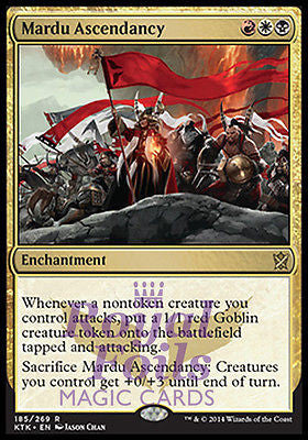 **1x FOIL Mardu Ascendancy** MTG KTK Khans of Tarkir Rare MINT red white black