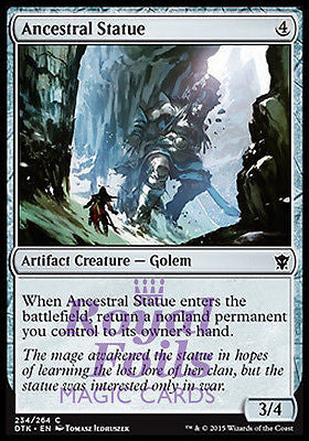 **1x FOIL Ancestral Statue** DTK MTG Dragons of Tarkir Common MINT artifact