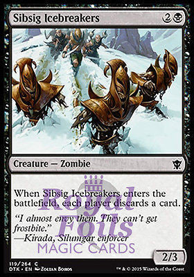 **4x FOIL Sibsig Icebreaker** DTK MTG Dragons of Tarkir Common MINT black