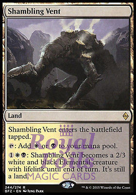 **1x FOIL Shambling Vent* BFZ MTG Battle for Zendikar Rare MINT white black land