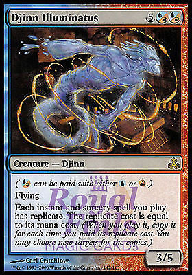 **1x FOIL Djinn Illuminatus** GPT MTG Guildpact Rare MINT red blue