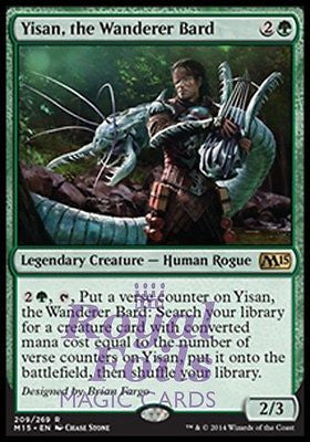 **1x FOIL Yisan, the Wanderer Bard* MTG M15 Core Set Rare MINT green