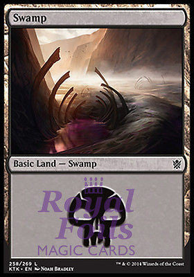 **2x FOIL Swamp #258** MTG KTK Khans of Tarkir Basic Land MINT black