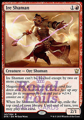 **2x FOIL Ire Shaman** DTK MTG Dragons of Tarkir Rare MINT red